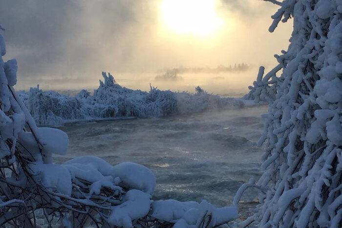 Insta pic of Niagara Falls frozen