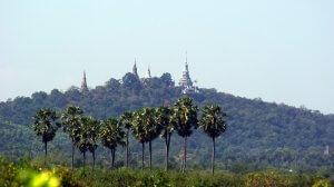 Phnom Udong in Cambodia