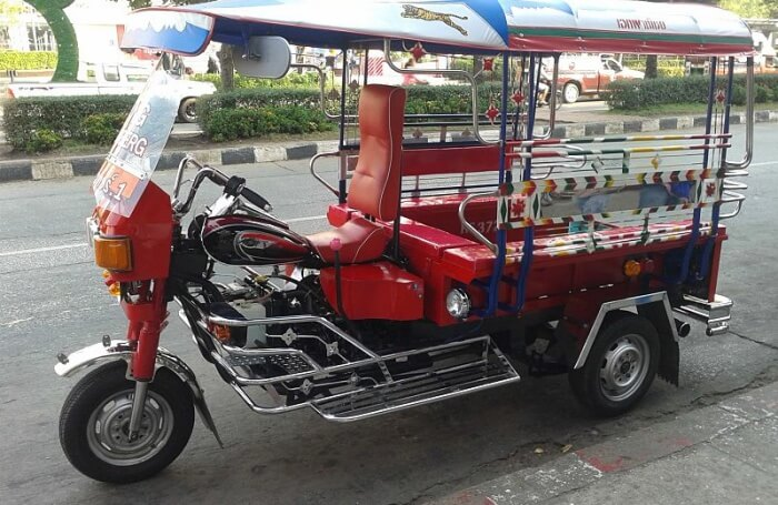 Pick up a tuk-tuk