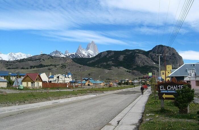 El Chaltén Village road