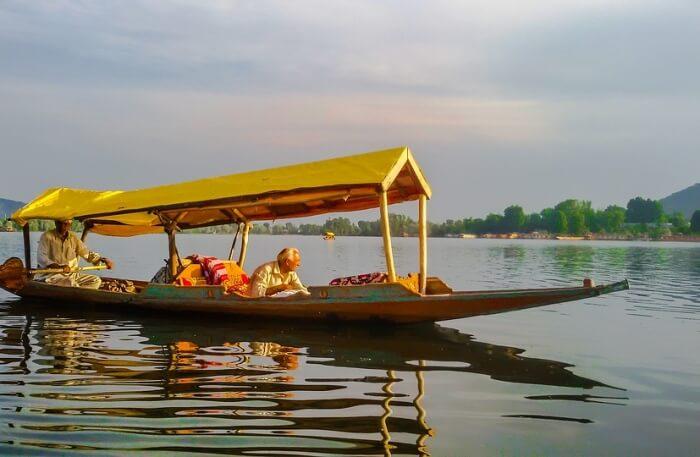 Landscape Kashmir Dal Lake Shikara Srinagar