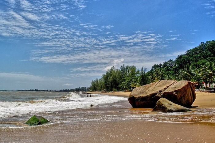 Surfing at the Khao Lak Beach