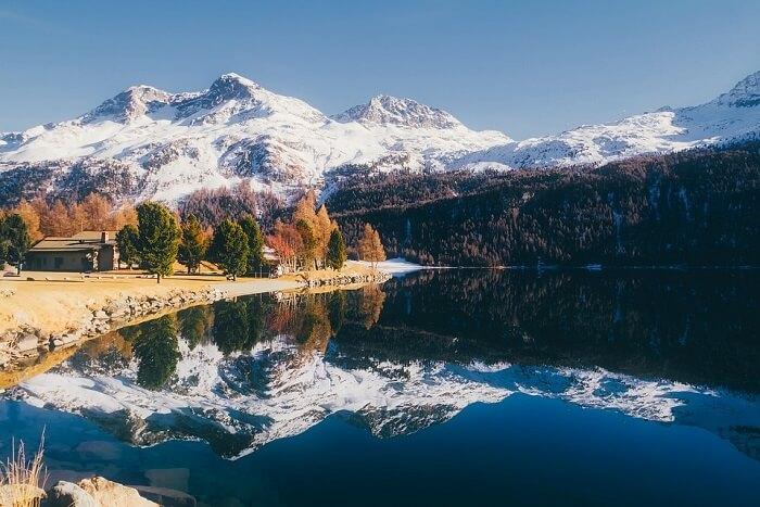 great alpine view in Switzerland