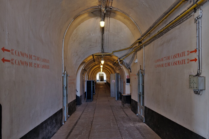 Main corridor of Fort Liezele (Puurs, Belgium)