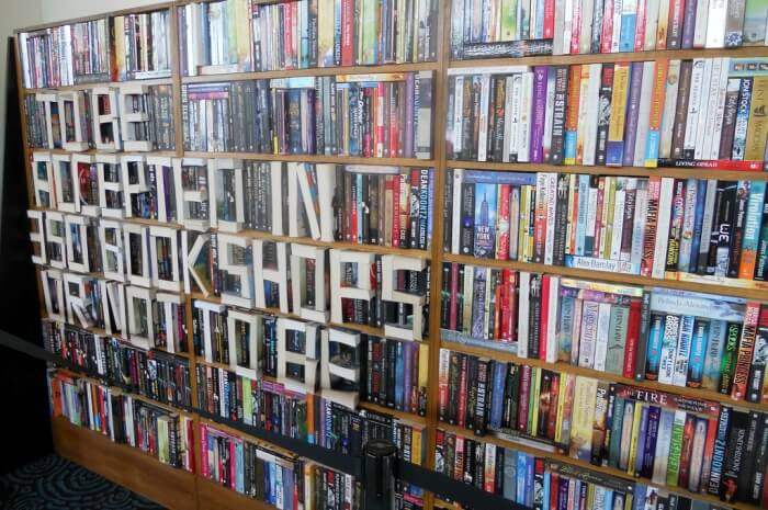 Installation to promote book tokens that are accepted in bookshops nation-wide.