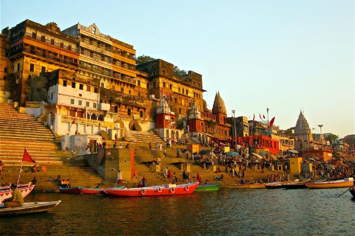A ghat in Varanasi