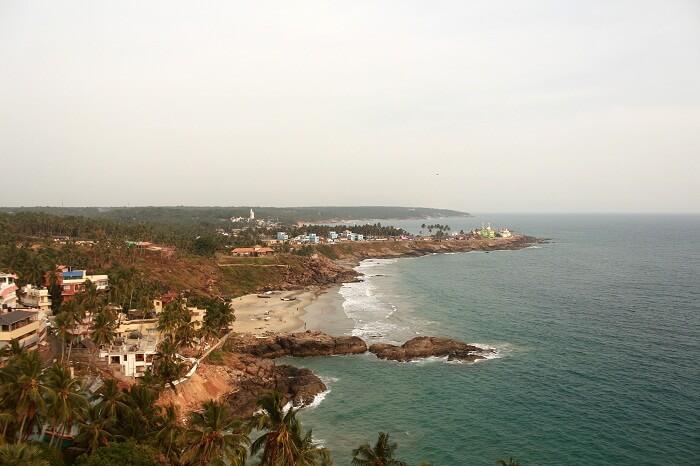 aerila view of chowara beach