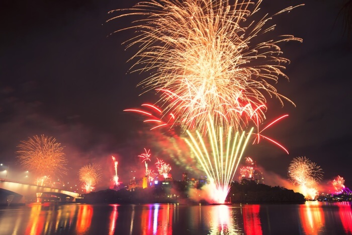Fireworks in Queensland