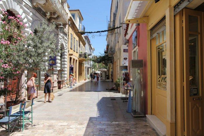 pretty street in nafplio
