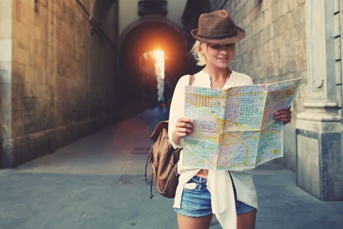 Woman with a map