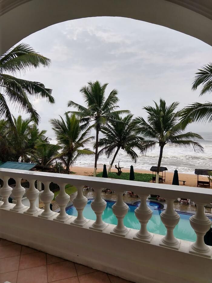 from hotel's balcony