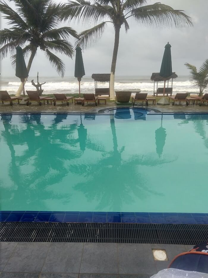 pool overlooking beach