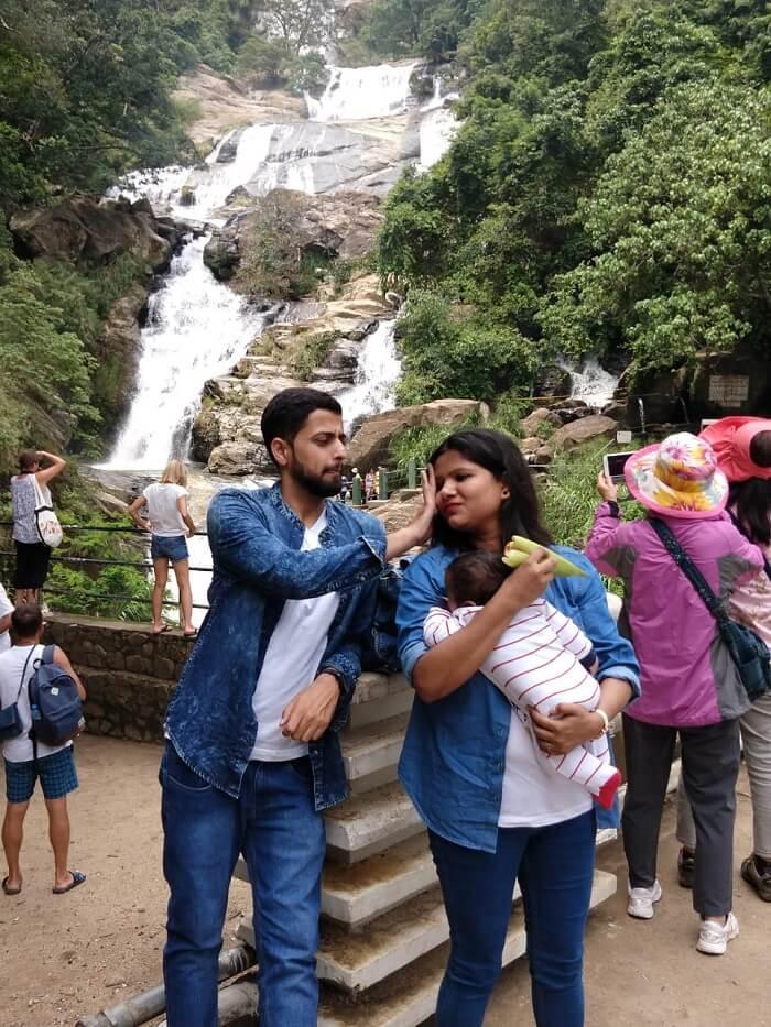waterfall in kandy sri lanka