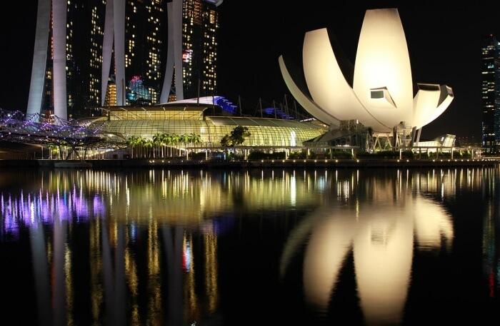 Casino Bay Marina Night Tourism Singapore