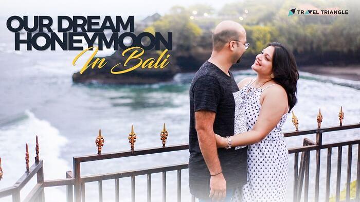 honeymoon couple enjoying in bali