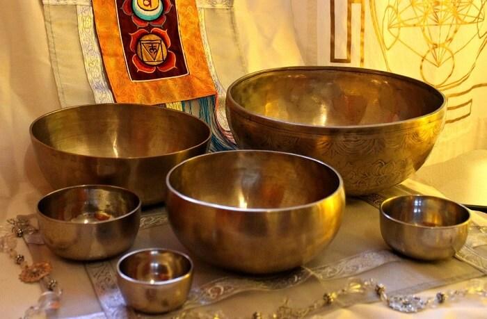 Singing Bowls Tibetan Market Himachal Dalhousie