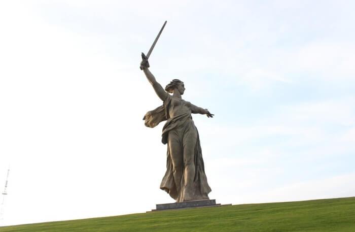 Monument Mother Motherland Volgograd View