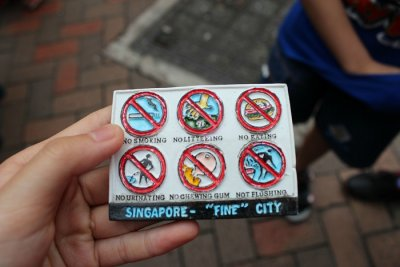 Things not to do in singapore