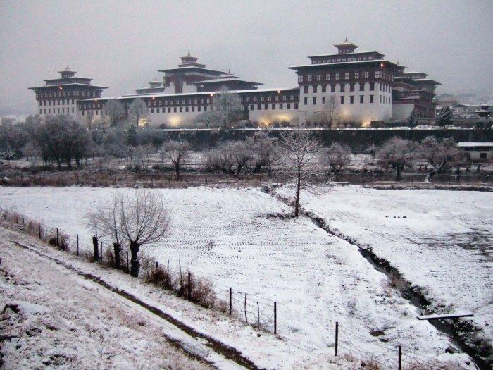 Thimphu during winter