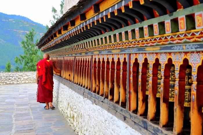 A lama in Thimphu