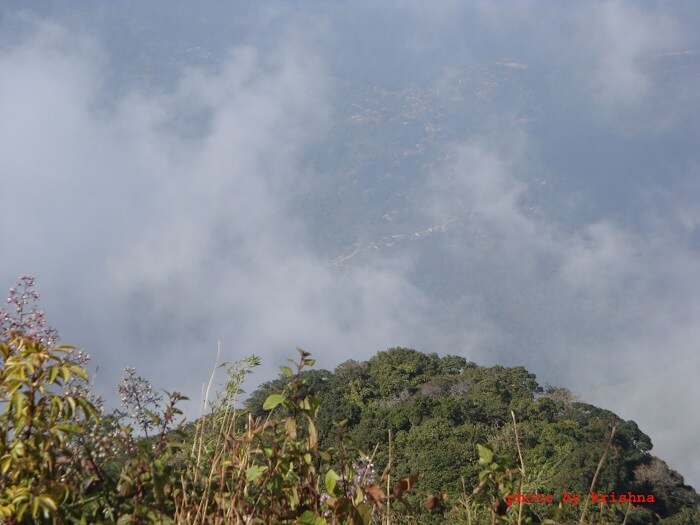 view from hill in haflong