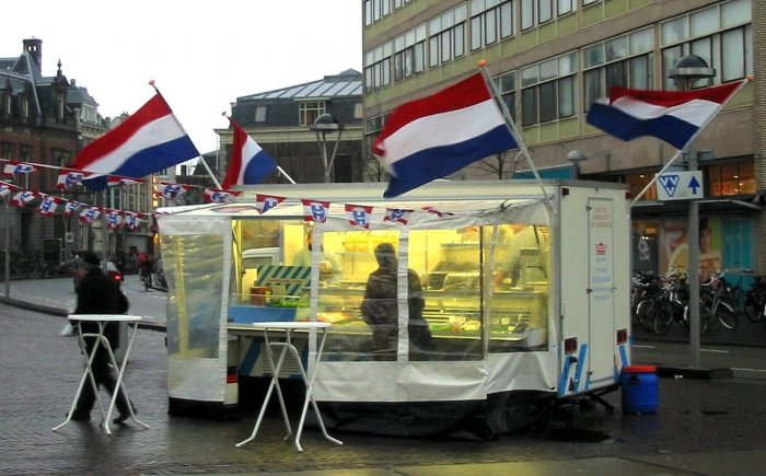 Herring stall in Amsterdam