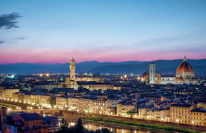 Tuscany Skyline Sunset Cityscape Florence