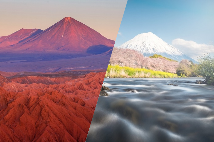 japan and chile famous places
