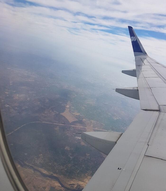 flying for Munnar
