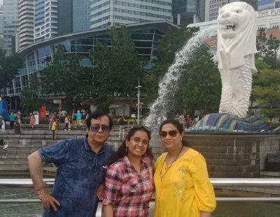 cover - Akansha family trip to Singapore