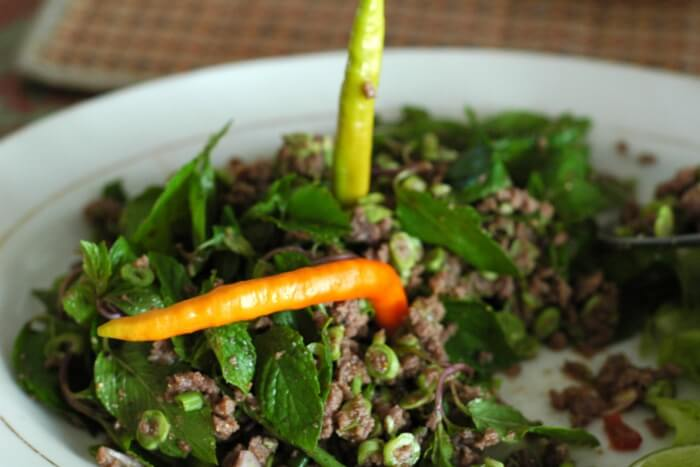 salad with chillies