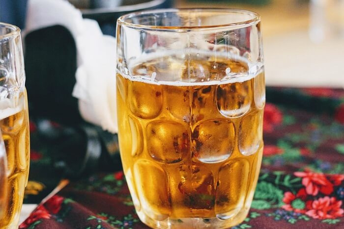 glass of beer in Austria