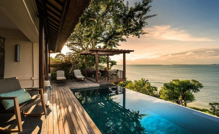 view of private pool villa in four seasons