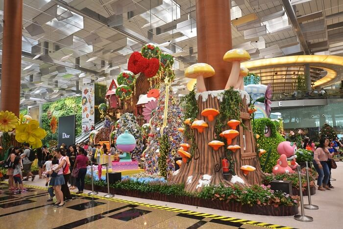 view from inside Changi airport