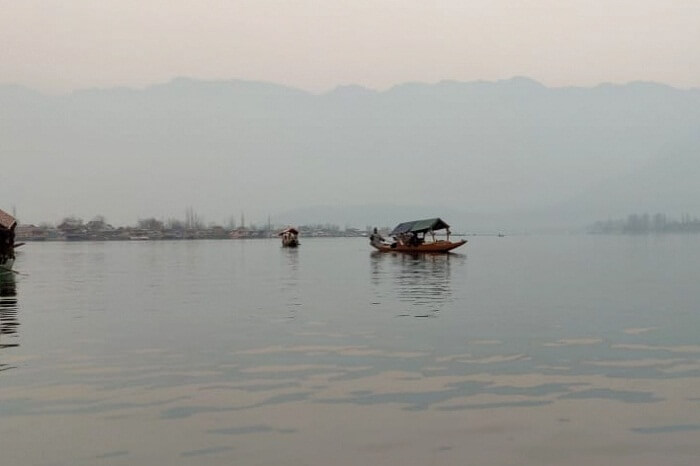 the famous Shikara Ride in Dal Lake