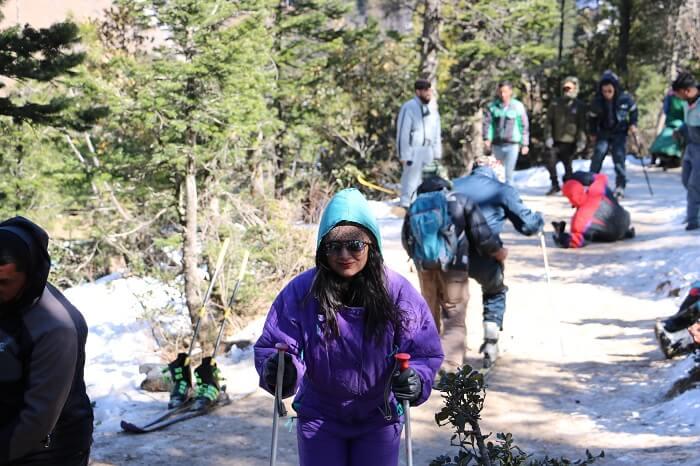 enjoyed some skiing