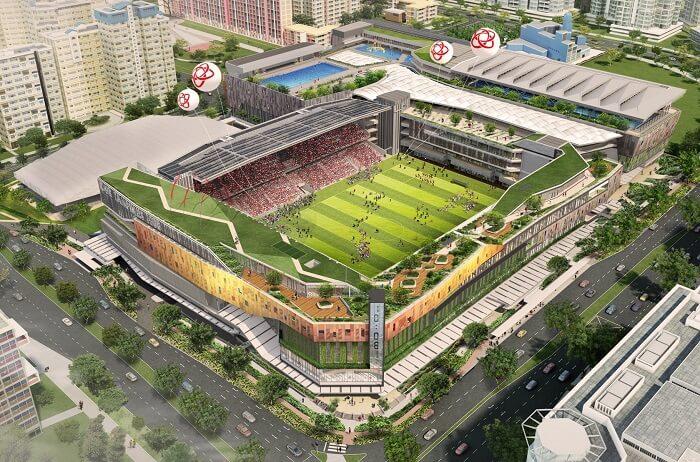 Tampines Hub stadium in singapore