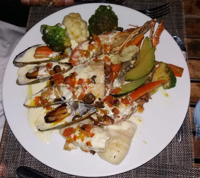 a dish in the restaurant