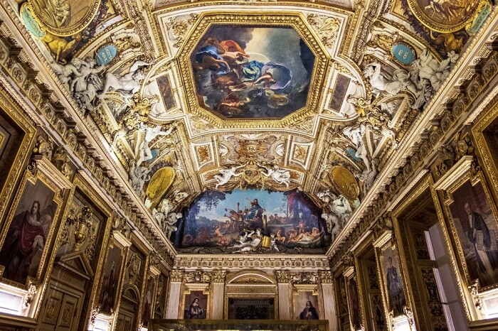 louvre ceilings
