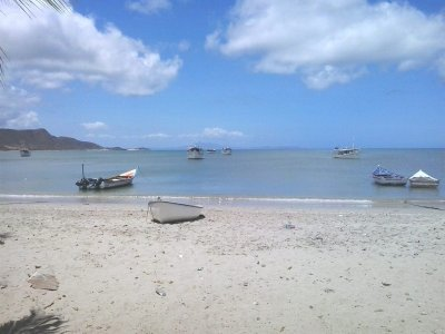 view of small ship in pawai pulau