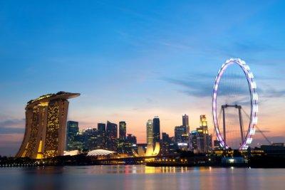 Singapore in evening