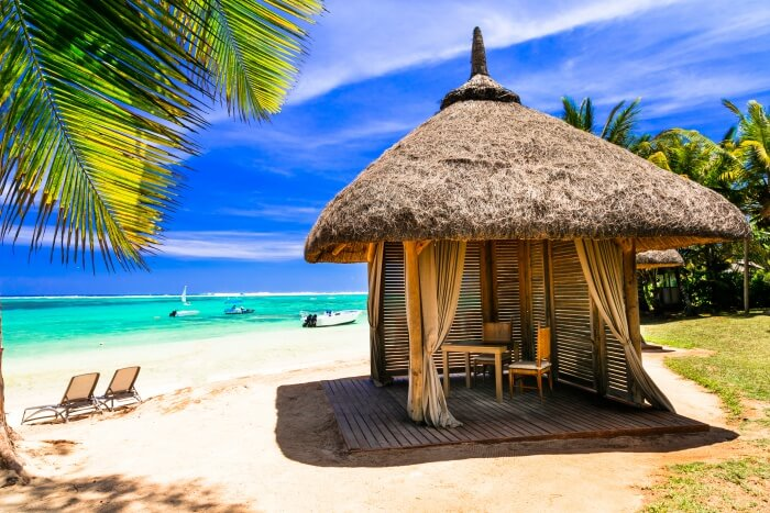 shelter in the beach